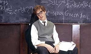 Cumberbatch playing Stephen Hawking.
